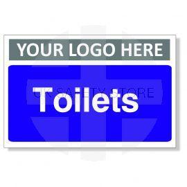 Toilets Custom Logo Door Sign