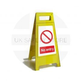 No Entry Custom Made A Board Freestanding Sign 600mm