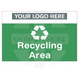 Recycling Area Custom Logo Recycling Sign