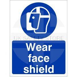 Wear Face Shield Sign