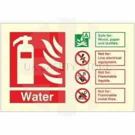 Glow In The Dark Water Fire Extinguisher Identification