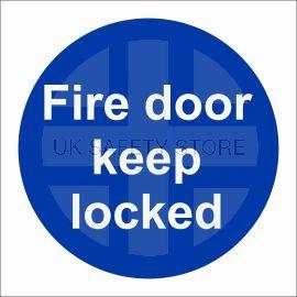 Fire Door Keep Locked Door Sign