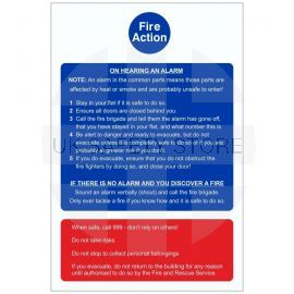 Stay Indoors (Stay Put) - Fire Action Notice Sign (for flats and apartments)