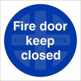Fire Door Keep Closed Door Sign