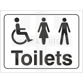 Unisex and Disabled Symbol Toilet Door Sign