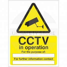 CCTV In Operation For The Purpose Of Sign
