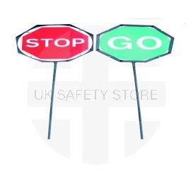 Double Sided Stop/Go Lollypop - 600W mm x 600Hmm