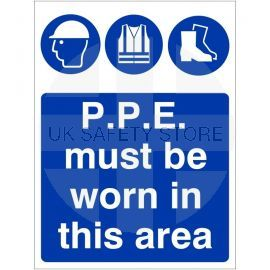 P.P.E. Must Be Worn In This Area Sign