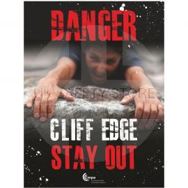 Danger Cliff Edge Sign - Stay Out