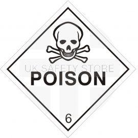 Poison Sign Sticker 100Wmm x 100Hmm