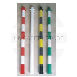 White Post and Cap 90cm