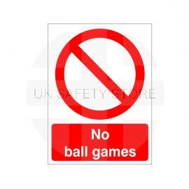 No Ball Games Sign Or Sticker