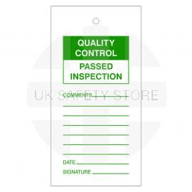 Quality Control Passed Inspection Tags