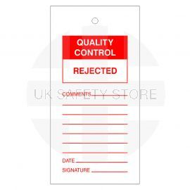 Quality Control Rejected Tags