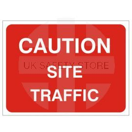 Caution Site Traffic Temporary Traffic Sign