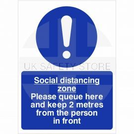 Social Distancing Zone Please Queue Here Sign