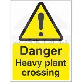 Danger Heavy Plant Crossing Sign