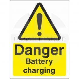 Danger Battery Charging Sign Or Sticker