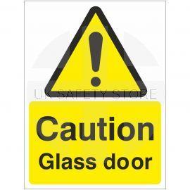 Caution Glass Door Sign Or Sticker