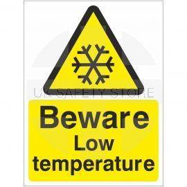Beware Low Temperature Sign