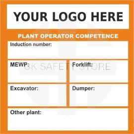 Custom Plant Operator Competence Sticker