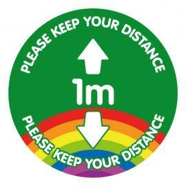 Please Keep Your Distance 1 Metre School Floor Graphic Sticker