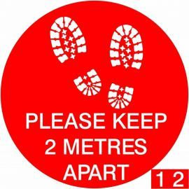 Please Keep 2 Metres Apart  Floor Graphic Sticker - With Spare Numbers