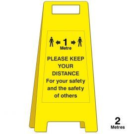 Please Keep Your Distancing Freestanding Sign - 1 Metre
