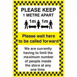 Please Keep 1 Metre Apart Social Distancing Sign