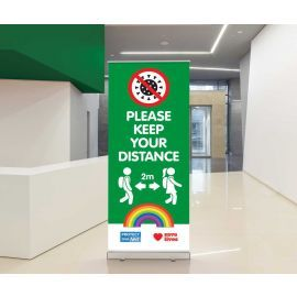 Pull Up Roller Banner - 800mm x 2000mm