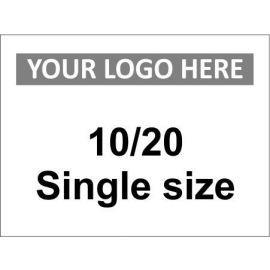 10/20 Single Size Sign