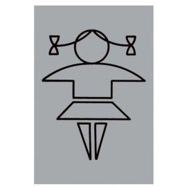 Aluminium Girls Toilet Sign