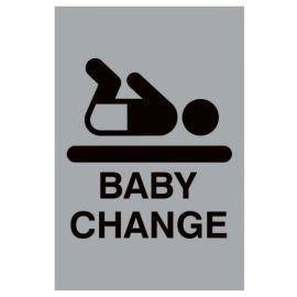 Aluminium Baby Changing Sign