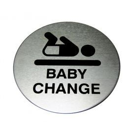BABY CHANGE Aluminium Sign