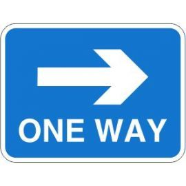 One Way Right Road Traffic Sign