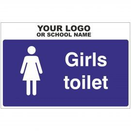 Girls Toilet Door Sign