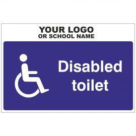 Disabled Toilet Door Sign