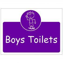 Boys Toilets Door Sign