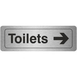 Toilets Arrow Right Aluminium Door Sign