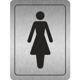 Ladies Toilets (Symbol) Aluminium Door Sign