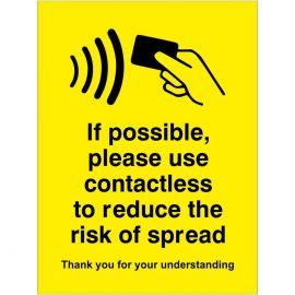 If Possible Please Use Contactless Sticker