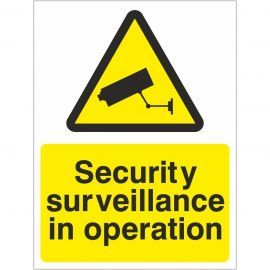 Security Surveilance In Operation Signs