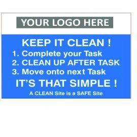 Keep It Clean Custom Logo Recycling Sign