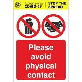Please Avoid Physical Contact Sign