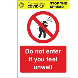 Do Not Enter If You Feel Unwell Covid-19 Sign