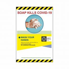 Soap Kills Covid 19 Sign