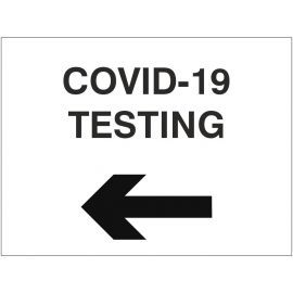 Covid-19 Testing Sign With Arrow