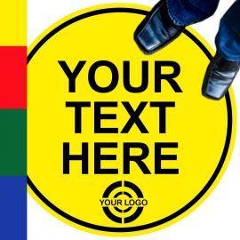 Custom Printed Round Floor Graphic Sticker Sign