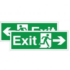 Exit Sign - Left/Right (Double Sided) 400W x 150Hmm