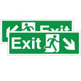 Exit Sign -Down Left/Right (Double Sided) 400W x 150Hmm